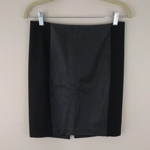 Express Faux Leather Panel Mini Skirt